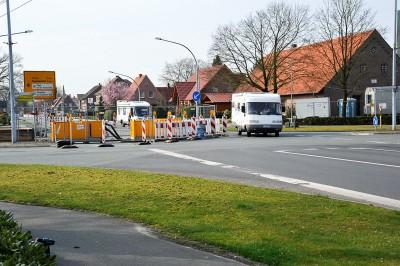 Baustelle Kreuzung K14/K15 in Hoogstede