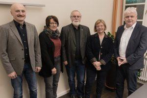 Scholten (stellv. Bürgermeister), Dieter und Maria Schowe, Bürgermeister Fritz Berends